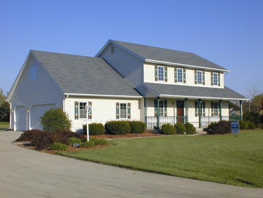 house green shutters