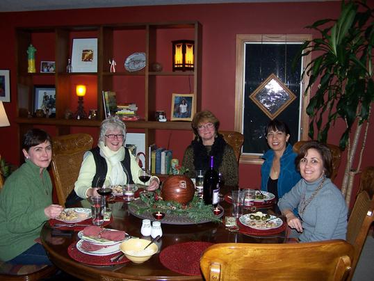 women at dinner