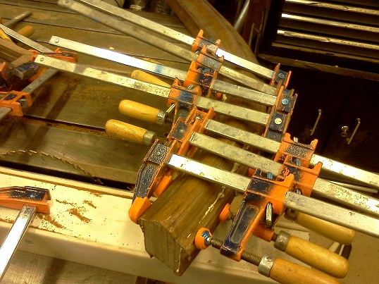 2curved handrail glue up 2