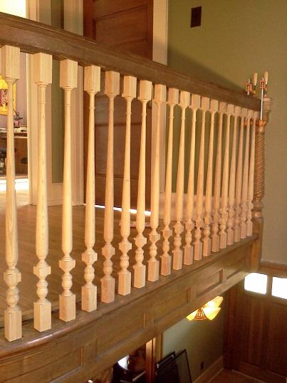 completed upper balustrade 8