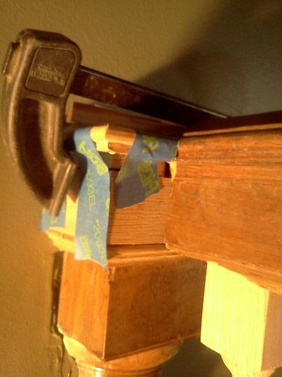 half newell cap glue-up