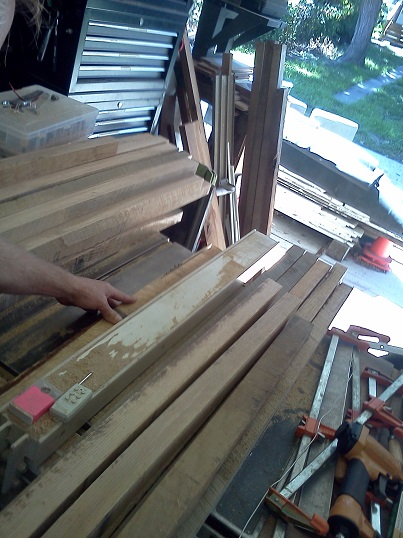 rough cutting white oak blanks 2