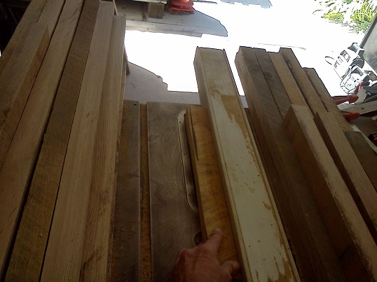 sawing rough blanks