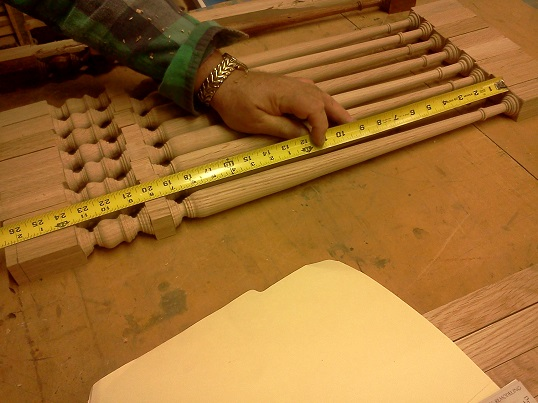 varifying dimensions on  turned balusters 2