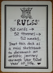 Rules card for 52 Deck
