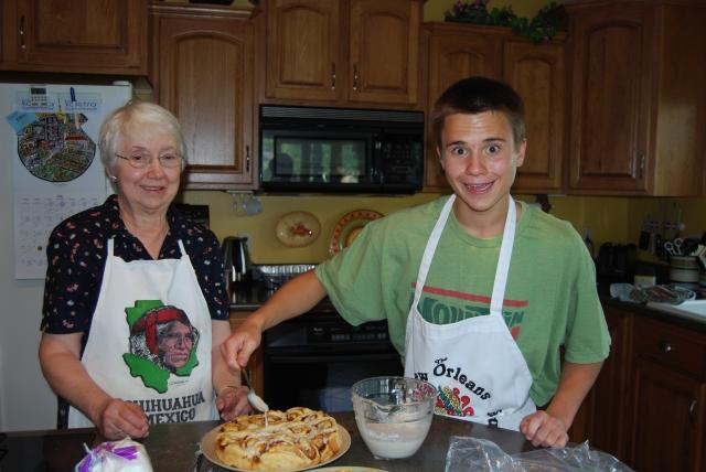 Calvin and Grandma, July 2008