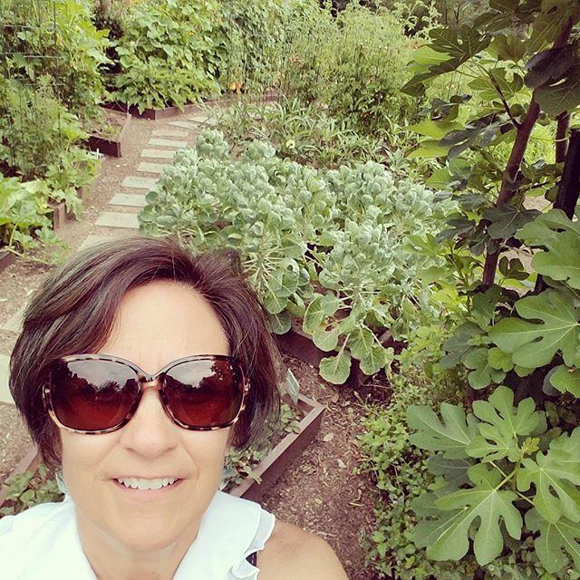 garden selfie